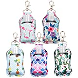 Portable Travel Bottles, 5PCS Hand Sanitizer Holder Leakproof Refillable Empty Bottles with Flip Cap for Shampoo Body Wash Liquids Squeezable Bottles for Outdoor Activities, School (Style B)