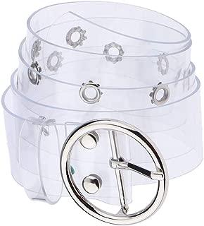 Baoblaze Chic Transparent Clear PVC Wide Waist Belt Waistband Large Buckle for Women