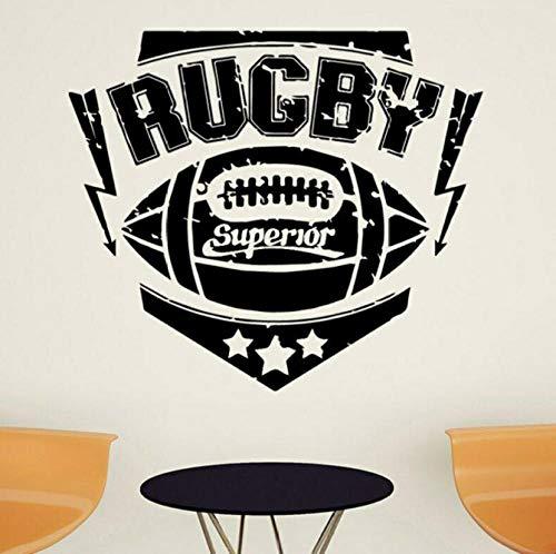 Rugby Sport Wandaufkleber Kinderzimmer Kopfteil Hintergrund Dekoration Ball Sport Vinyl Wandtattoos Wohnzimmer Art Decor 42x36cm