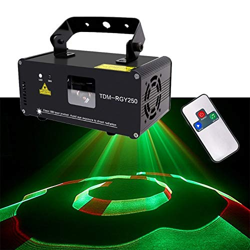 EGCLJ LED Party Stadiums-lamp 3D-effect-geluid geactiveerd disco-licht 3D driedimensionaal patroon RGBW strobe-projector Club bar karaoke bruiloft