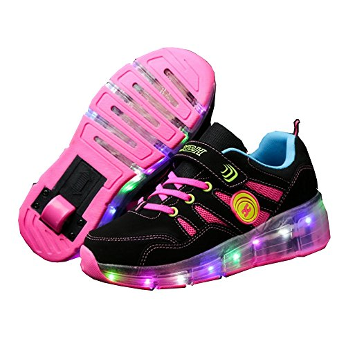 Ufatansy CPS LED Fashion Sneakers Kids Girls Boys Light Up Wheels Skate Shoes Comfortable Mesh...