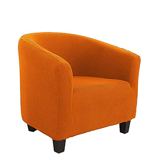 Funda de sofá extraíble para sala de estar, recepción, tina, silla elástica, jacquard, funda protectora lavable, color naranja