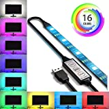 USB LED Lighting Strip for HDTV - Medium (78in / 2m) - Multi-Color RGB - USB LED Backlight Stri…