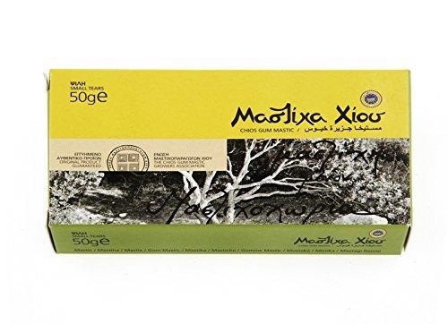 Chios Mastic Gum Small Tears 50 Gr - 100% Fresh Original Xios (Masticha or Mastixa)