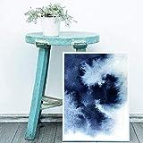 Danjiao Pintura Abstracta Azul Marino Impresiones Dormitorio Arte De La Pared Cartel Azul �ndigo Acuarela Imprimir Imagen De La Pared Sala De Estar Decoración Del Hogar Sala De Estar Decor 40x60cm