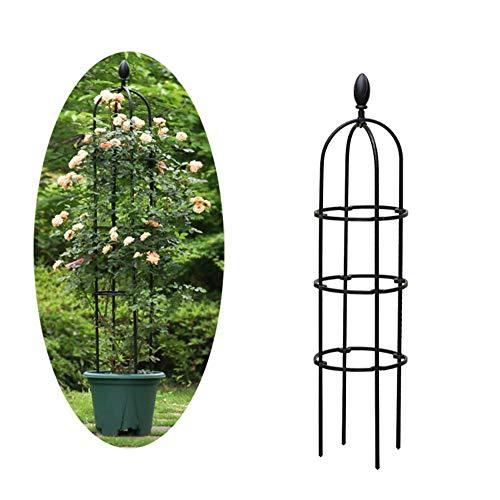 CJSWT Garten Obelisk Blume Unterstützung, Pflanzenstützen für Topfpflanzen, Garten Rahmen für Kletterpflanzen und Pflanzen