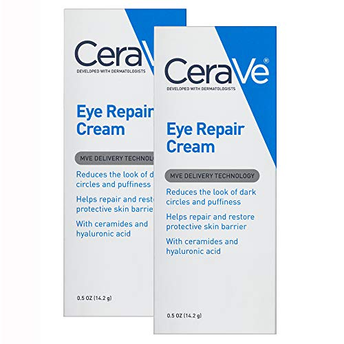 CeraVe Eye Repair Cream   2 Pack (0.5 Ounce each)   Eye Cream for Dark Circles and Puffiness   Fragrance Free
