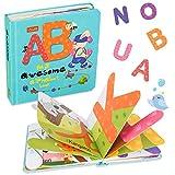 TUMAMA Alphabet Bücher für Babys,ABC Lernbuch Spielebücher für Kinder,ABC Malbuch für Jungen und Mädchen,Pädagogisches Baby spielt Geschenk für Babys Kleinkinder(Letters Book)