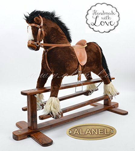Handmade Rocking Horse cheval à bascule cavallo a dondolo schaukelpferd MADE IN EUROPE AMAZING ROCKING HORSE buy with confidence direct from manufacturer (DAPPLE GREY)
