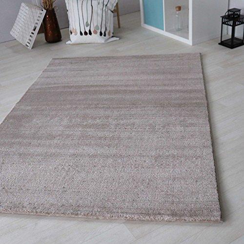 mynes Home Teppich beige Kurzflor in versch. Größen für Wohnzimmer Jugendzimmer etc, Moderner Teppich schadstofffrei Zertifiziert Neu (80 x 150 cm)