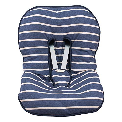 JANABEBE Funda Universal acolchada para Portabebe y silla de coche grupo 0 (SAILOR STRIPES) ⭐