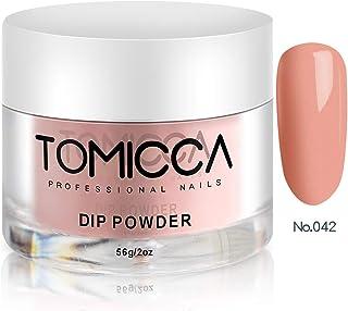TOMICCA Dip Powder Nail Dipping Powder Dust, 2oz per Jar (Naked Pink)