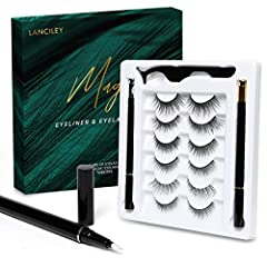 Magic Eyelashes with Eyeliner - LANCILEY Eyelashes Kit does not contain any kind of glue, You can use the eyeliner pens to apply the eyelashes. It's a game-changer for eyelash application! They are replacing messy glue style or allergic to glue, also...