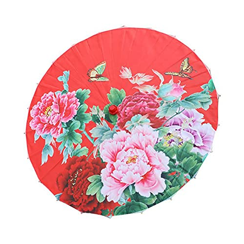 Chinesischer klassischer Stil Regenschirm-Silk-Tuch-orientalischer Sonnenschirm Sonnenschirm-roter Kunst Regenschirm-Kinder dekorative Regenschirm-Tanzregenschirm für Hochzeitspartys, Fotografie