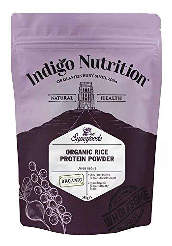 Indigo Herbs Polvo de Proteína de Arroz Orgánico 250g