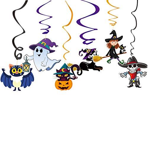 BearHoHo - Set di 6 ciondoli Decorativi per Halloween, in PVC
