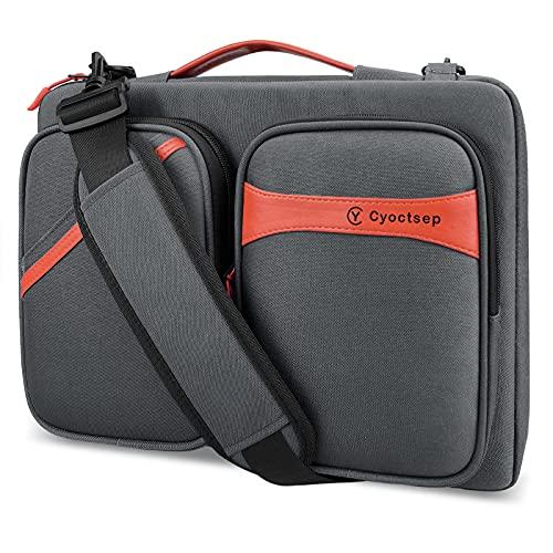 Cyoctsep 13-14 Pollici Custodia Borsa PC, Tracolla Protettiva Impermeabile per Notebook a 360° con...