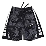 Nike Youth Boy's Elite Dri-Fit Basketball Shorts Black/Grey CD7584 012 (Small)