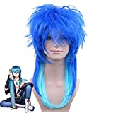 DRAMAtical Murder Mens Seragaki Aoba Cosplay Wig DMMd Seragaki Aoba Role Play Blue Styled Hair Anime Costume Wigs