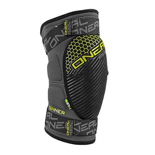 O'Neal Sinner Knie Protektor Grau Neon Gelb IPX Aramidfaser DH MTB FR AM Schoner, 0268-30, Größe Small