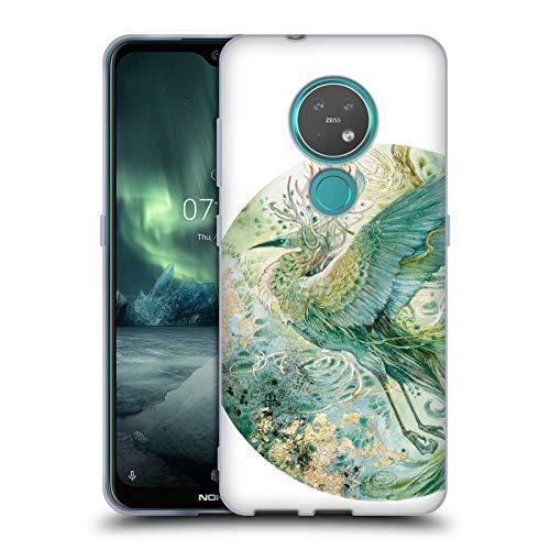 Officiële Stephanie Law Feniks Vogels Soft Gel Case Compatibel voor Nokia 7.2
