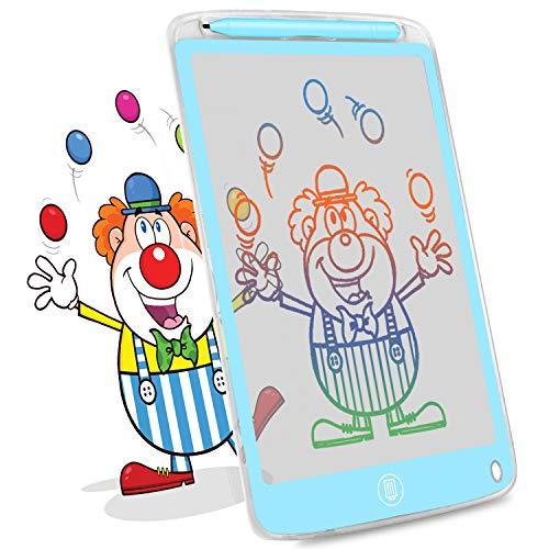 HOMESTEC Tableta de Escritura LCD de 10 Pulgadas, Pizarra Digital Transparente,para Escribir, Dibujar, Trabajar, Juegos Educativos para Niños (Azul)