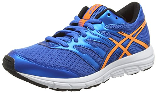 ASICS Gel-Zaraca 4 Gs, Scarpe Unisex Da Corsa, Colore Blu (Electric Blue/Hot Orange/Black 3930), Taglia 36 EU (3 UK)