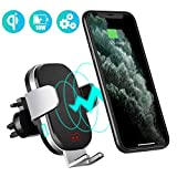 Modohe Caricatore Wireless Auto, Qi 10W Wireless Charger Porta Cellulare da Auto Ricarica Wireless per iPhone 11 Pro Max/Xs/8 Plus/Samsung Note 10/S10/Note 9/ Huawei P30 Pro/Mate 30Pro
