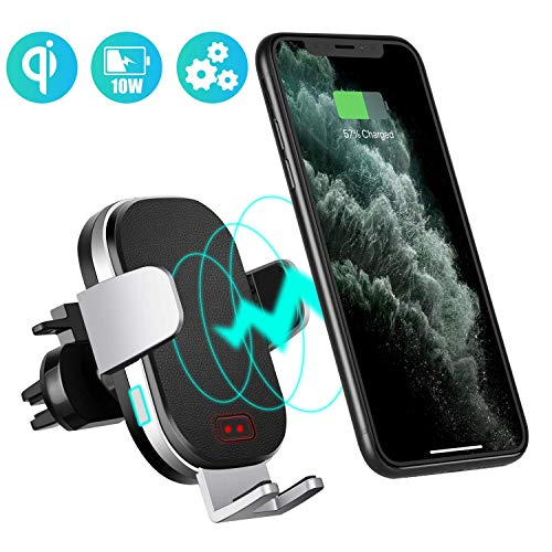 Modohe Chargeur Induction Voiture, Chargeur Sans Fil, Qi 10w Wireless Charger Support Telephone Voiture Induction pour iPhone 11 Pro Max/Xs/8 Plus/Samsung Note 10/S10/Note 9/ Huawei P30 Pro/Mate 30Pro