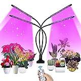 SUPCHON Lámpara de Plantas Crecimiento, Lámpara de Cultivo 80 LED con Control Remoto RF, 9 Niveles Regulable y Rotación de 360° Luces Plantas para siembra, Crecimiento, floración y fructificación