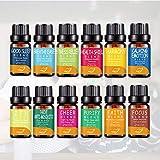 ColorfulLaVie Ensemble d'huiles essentielles aromathérapiques Pures et Naturelles, Huile Essentielle Anti-Stress pour diffuseur d'arômes