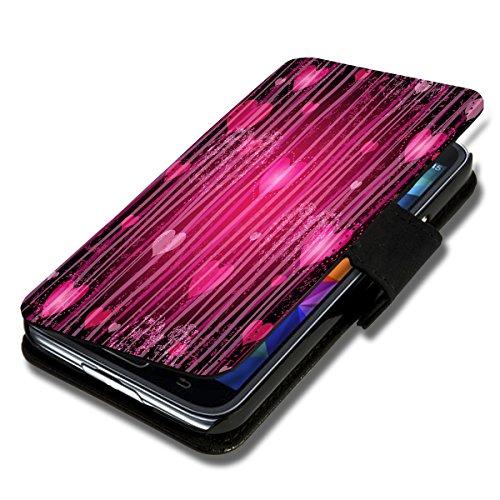 wicostar Book Style Flip Handy Tasche Hülle Schutz Hülle Schale Motiv Foto Etui für LG Bello 2 / Bello II - Flip X12 Design8