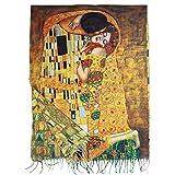 Toocool Sciarpa Stola Unisex Klimt Van Gogh Kandinsky Monet Foulard Scialle A001 [Taglia Unica,Bacio]