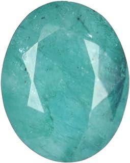Real Gems 6.00 CTS Certificado de Piedras Preciosas Sueltas de Esmeralda 100% Natural, Piedra de Talla facetada Verde Esme...