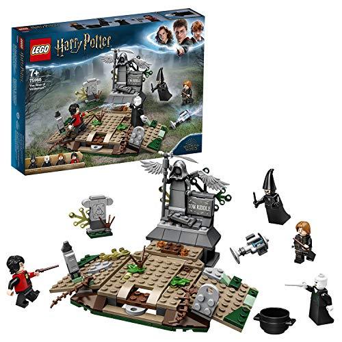 LEGO 75965 Harry Potter Der Aufstieg von Voldemort, Sammlerbauset für Fans der Zauberwelt