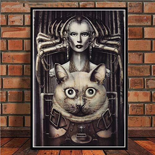 YHSM HR Giger Li II Alien Poster Picture Posters e Impresiones para la decoración del hogar de la habitación 60x80cm 3