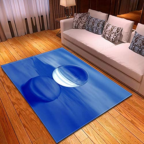 xiangpiaopiao Alfombra Alfombra Hermosa Arte Ondulado De Agua Impreso En 3D Decoración para El Hogar Alfombra Suave Antideslizante Alfombra Que Se Arrastra para Niños (07368Dt) 120X120Cm