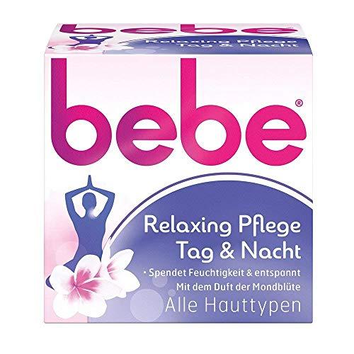 bebe Relaxing Pflege Tag & Nacht - Feuchtigkeitsspendende Tag- und Nachtcreme für entspannte und weiche Haut - 50ml