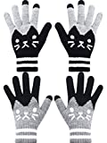2 Pairs Winter Touch Screen Gloves Warm Knit Gloves Phone Touch Gloves for Women