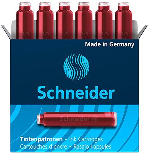 Schneider 6602 Tintenpatrone (Standard-Format) 10 x 6 Stück, rot