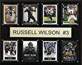 C & I Collectables NFL Seattle Seahawks Russell Wilson Plakette, 8 Karten, 30,5 x 38,1 cm -