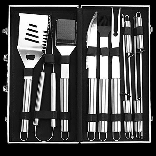 51bxl4CBjDL - ZM-Shoes 20 PC-BBQ-Grill-Werkzeug-Set, Edelstahl Grill-Zubehör Mit Speicher-Beuteln, Die Kompletten Außen Barbecue Grill Utensilien Set, Grill Grill Werkzeuge Set Für Freunde Familie,10pcs