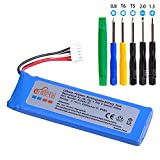 Pickle Power 3200mAh JBL Flip 4 Replacement Battery with Tool Set for JBL Flip 4, Flip 4 Special Edition Blutooth Speaker, fits JBL GSP872693 01