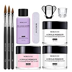 Acrylic nail kit: in this acrylic powder and liquid set, the acrylic powder provides amazing control with its ability to self level and adhere to the natural nail,come with monomer acrylic nail liquid create a protective layer, nail kit set professio...