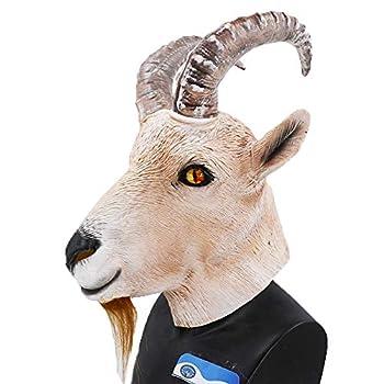 Goat Latex Animal Mask Farmyard Antelope Mask Halloween Costume Headwear Party Disguise