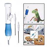 Cisixin 3 Piezas Magic bordado Pen Aguja, Accesorio de Costura para Puntadas, Appliques y Adornos - Diseño Ergonómico para Coser