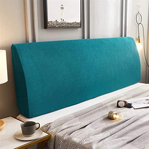 ZXDFG - Funda para cabecero de cama, almohadas de lectura gruesas, funda de respaldo de cama, extensible, antipolvo, funda de protección lavable, poliéster, M, 120 cm