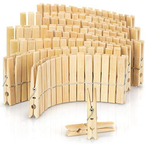 com-four® 120x Pinzas para Ropa Hechas de Madera - Pinzas de Madera Pinzas para Colgar la Ropa - Pinzas Fuertes para Ropa de Madera