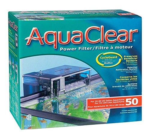 AquaClear 50 Powerfilter Aussenfilter zum anhängen für Aquarien von 76 bis 190 Liter