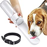 <span class='highlight'><span class='highlight'>EXTSUD</span></span> 420ML Dog Water Bottle, Portable Pet Water Bottle with Black Dog Collar, Leakproof Dog Drinking Dispenser with 190mm Sink, Dog Water Bottle for Walking Traveling Outdoor - Redminut Certified